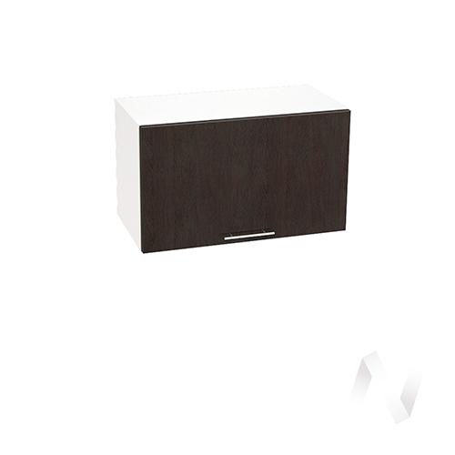 """Кухня """"Валерия-М"""": Шкаф верхний горизонтальный 600, ШВГ 600 (венге/корпус белый)"""