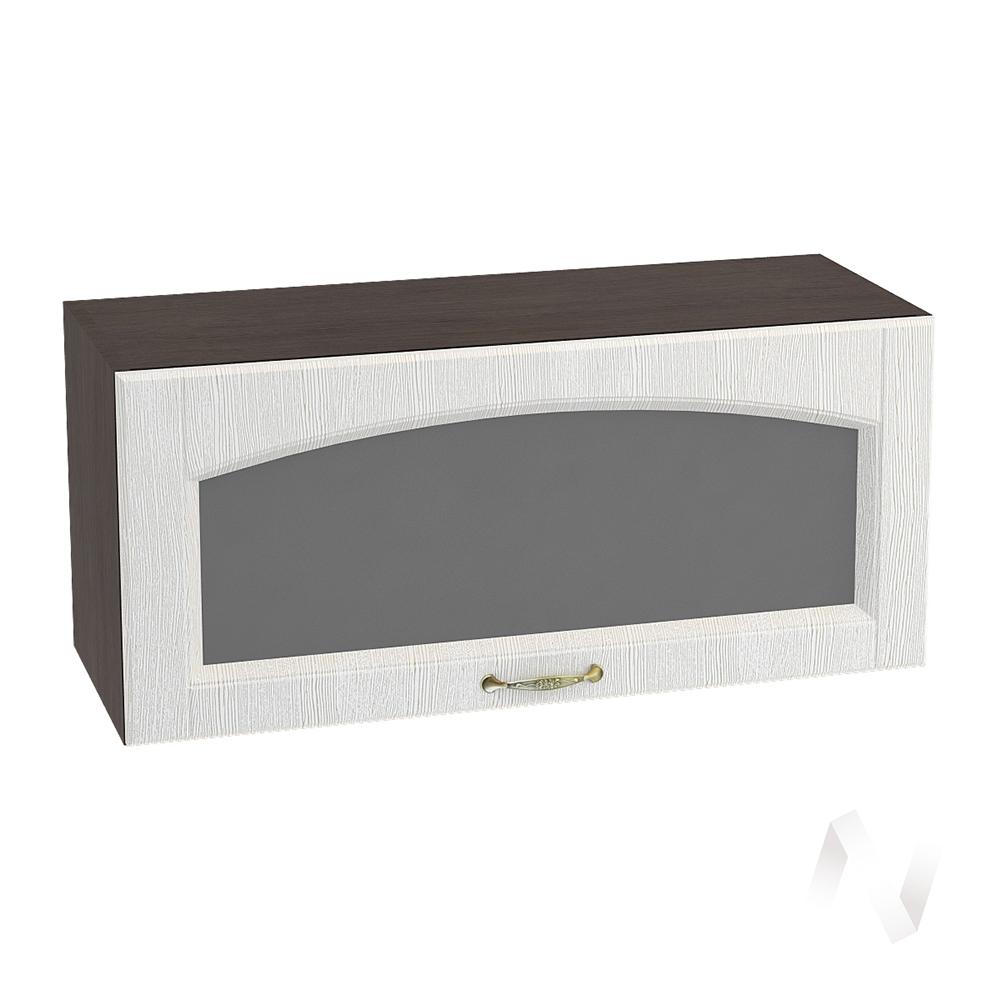 """Кухня """"Верона"""": Шкаф верхний горизонтальный со стеклом 800, ШВГС 800 (ясень золотистый/корпус венге)"""