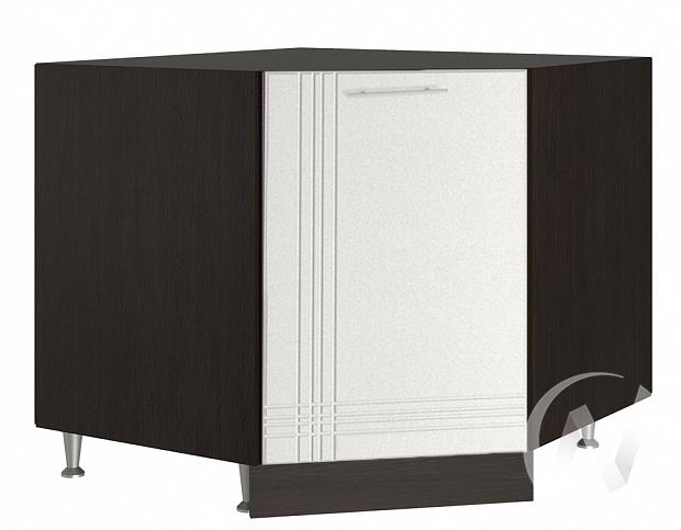 "Кухня ""Струна"": Шкаф нижний угловой 890, ШНУ 890 (белый металлик/корпус венге)"