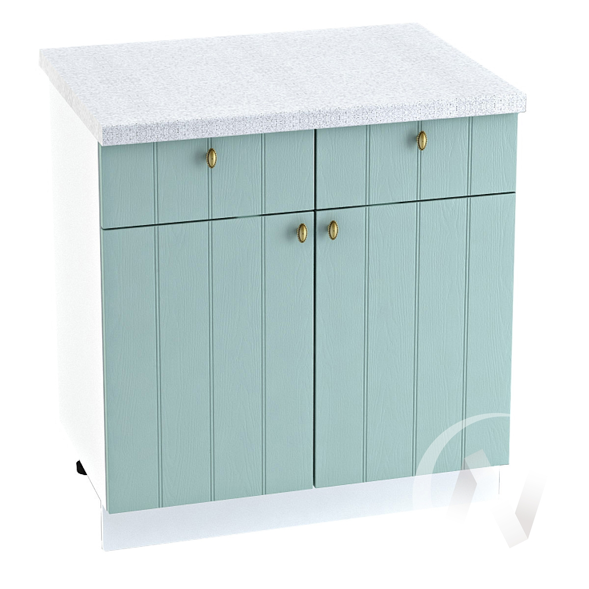 "Кухня ""Прованс"": Шкаф нижний с ящиками 800, ШН1Я 800 (голубой/корпус белый)"