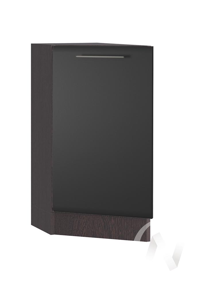 """Кухня """"Люкс"""": Шкаф нижний торцевой 300, ШНТ 300 (Шелк венге/корпус венге)"""