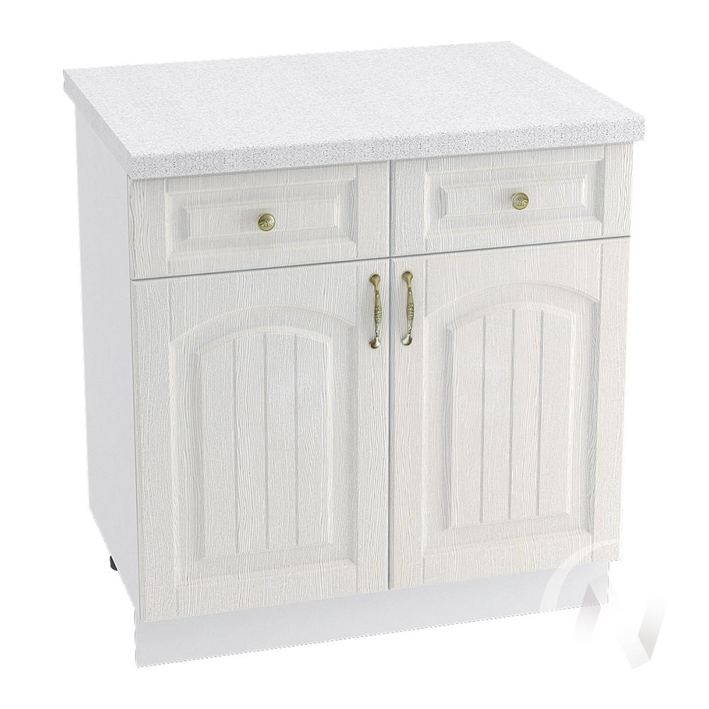 """Кухня """"Верона"""": Шкаф нижний с ящиками 800, ШН1Я 800 (ясень золотистый/корпус белый)"""