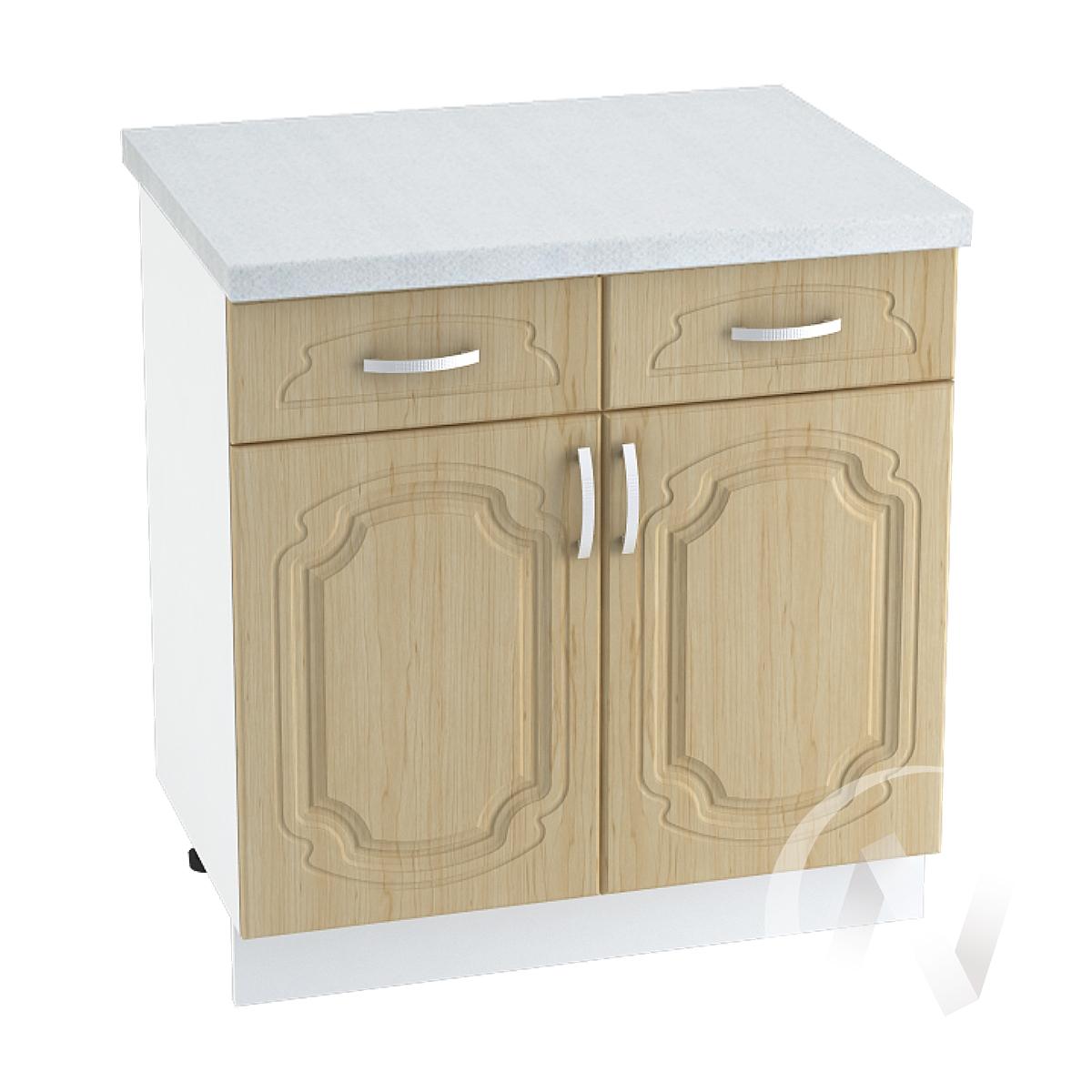 """Кухня """"Настя"""": Шкаф нижний с ящиками 800, ШН1Я 800 (Береза/корпус белый)"""
