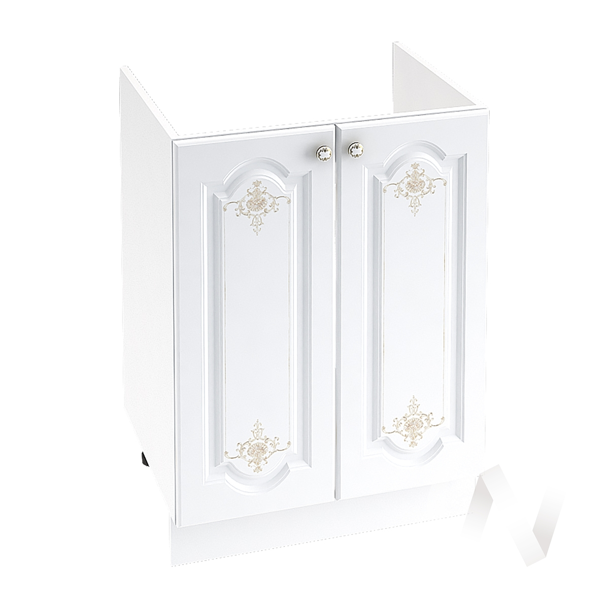 "Кухня ""Шарлиз"": Шкаф нижний под мойку 600, ШНМ 600 (корпус белый)"