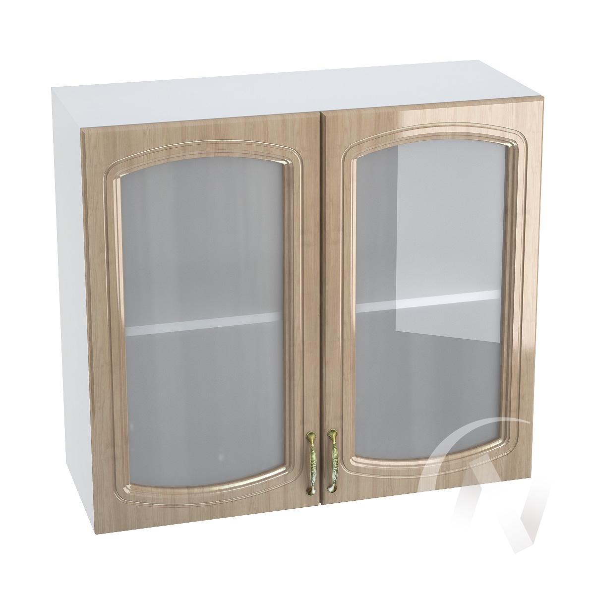 "Кухня ""Сити"": Шкаф верхний со стеклом 800, ШВС 800 (корпус белый)"