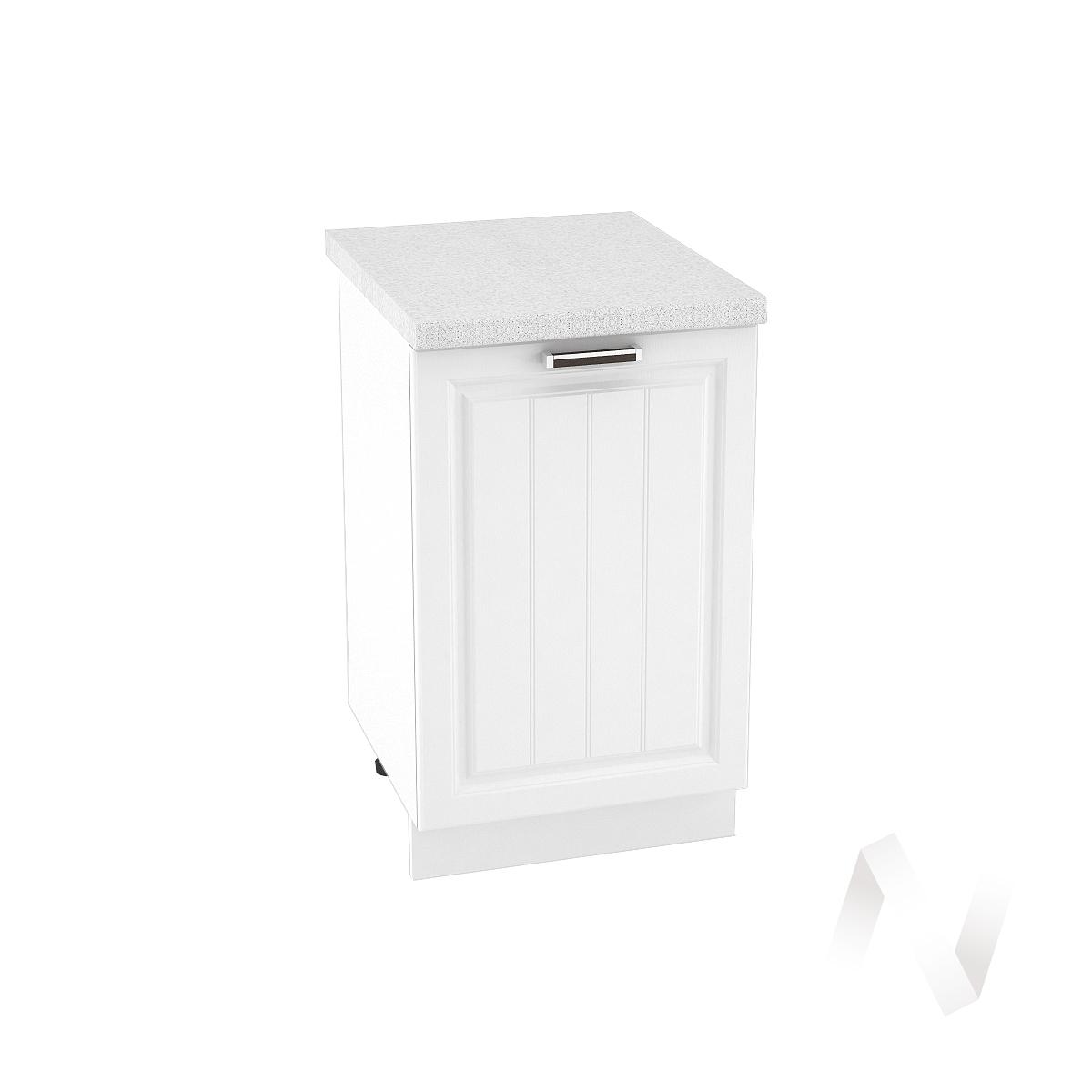 "Кухня ""Прага"": Шкаф нижний 500, ШН 500 (белое дерево/корпус белый)"