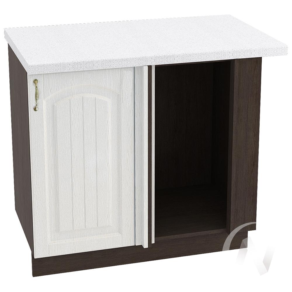 """Кухня """"Верона"""": Шкаф нижний угловой 990М, ШНУ 990М, правый (ясень золотистый/корпус венге)"""