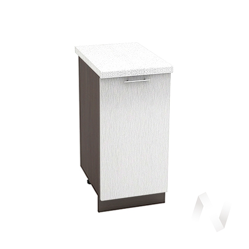 "Кухня ""Валерия-М"": Шкаф нижний 400, ШН 400 (дождь серый/корпус венге)"