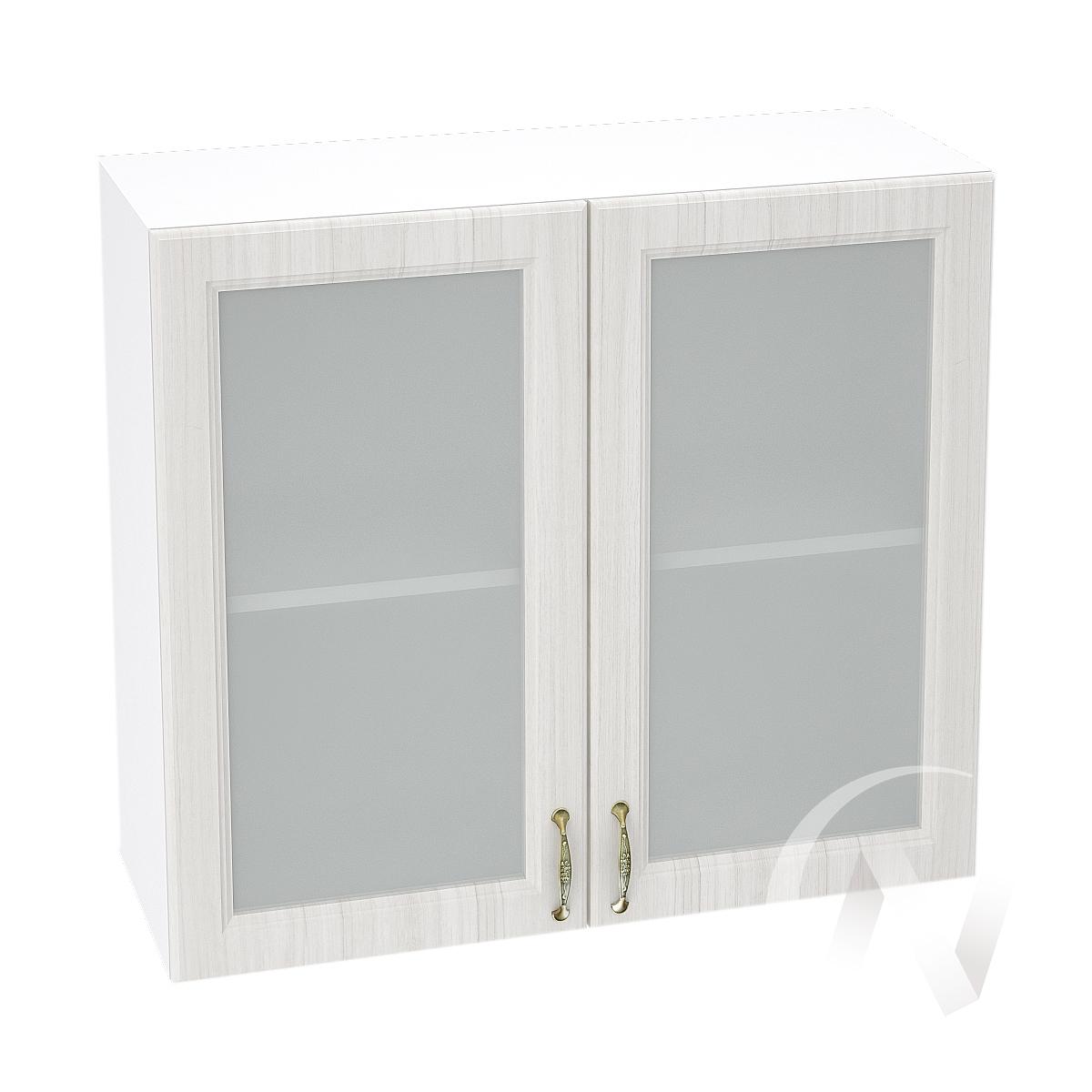 """Кухня """"Виктория"""": Шкаф верхний со стеклом 800, ШВС 800 (корпус белый)"""