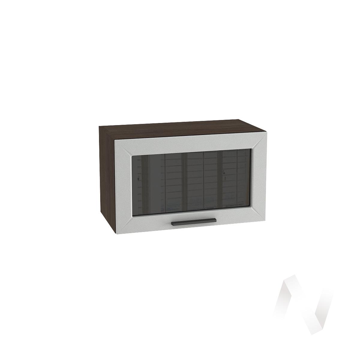 """Кухня """"Глетчер"""": Шкаф верхний горизонтальный со стеклом 600, ШВГС 600 (Гейнсборо силк/корпус венге)"""