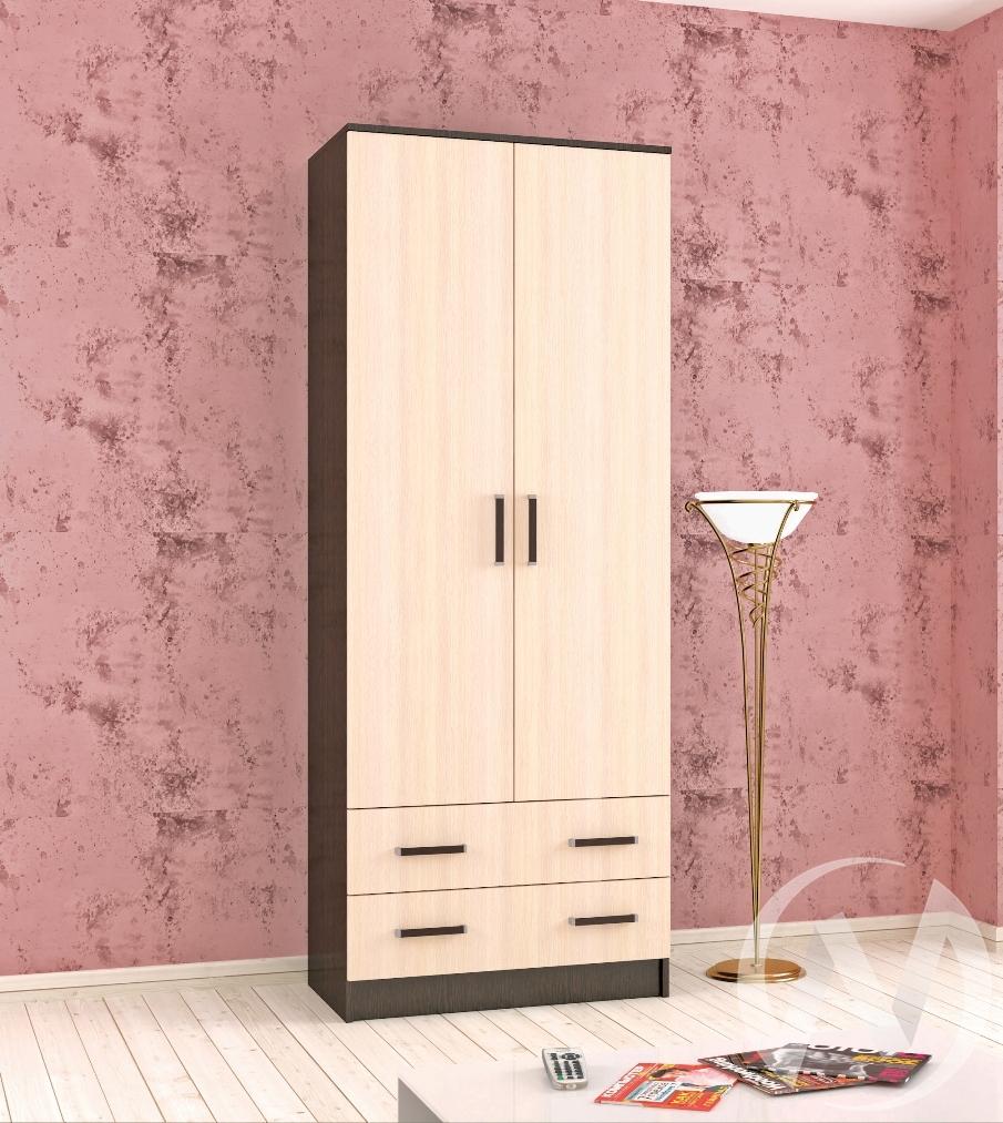 Шкаф комбинированный Лагуна 0,800 без зеркала (венге/дуб молочный)