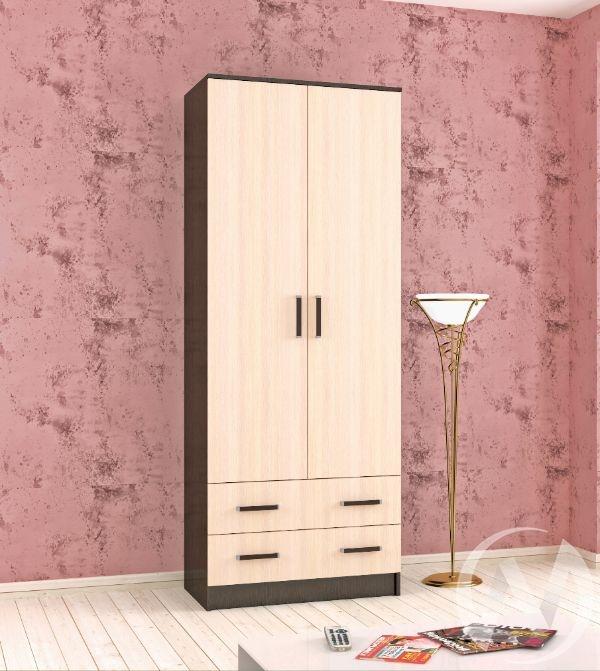 Шкаф комбинированный Лагуна 0,8м без зеркала (венге/дуб молочный)
