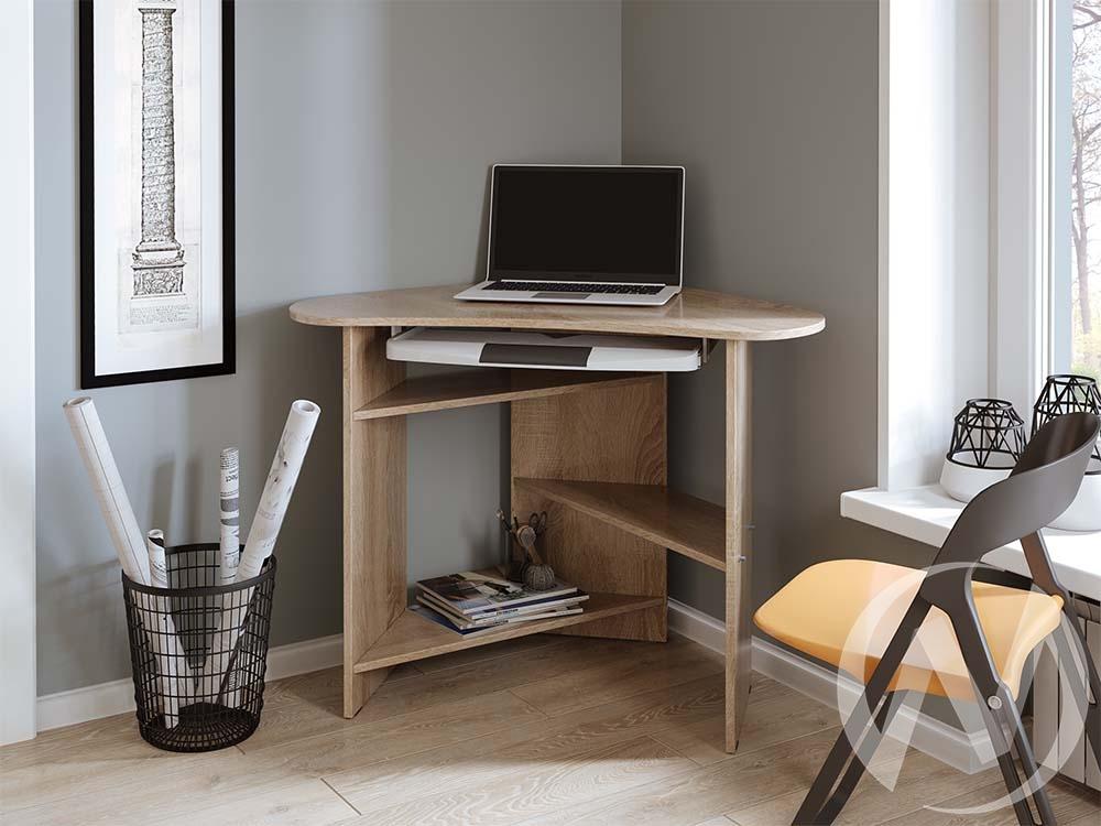 Компьютерный стол КС 800 угловой (дуб сонома)  в Томске — интернет магазин МИРА-мебель