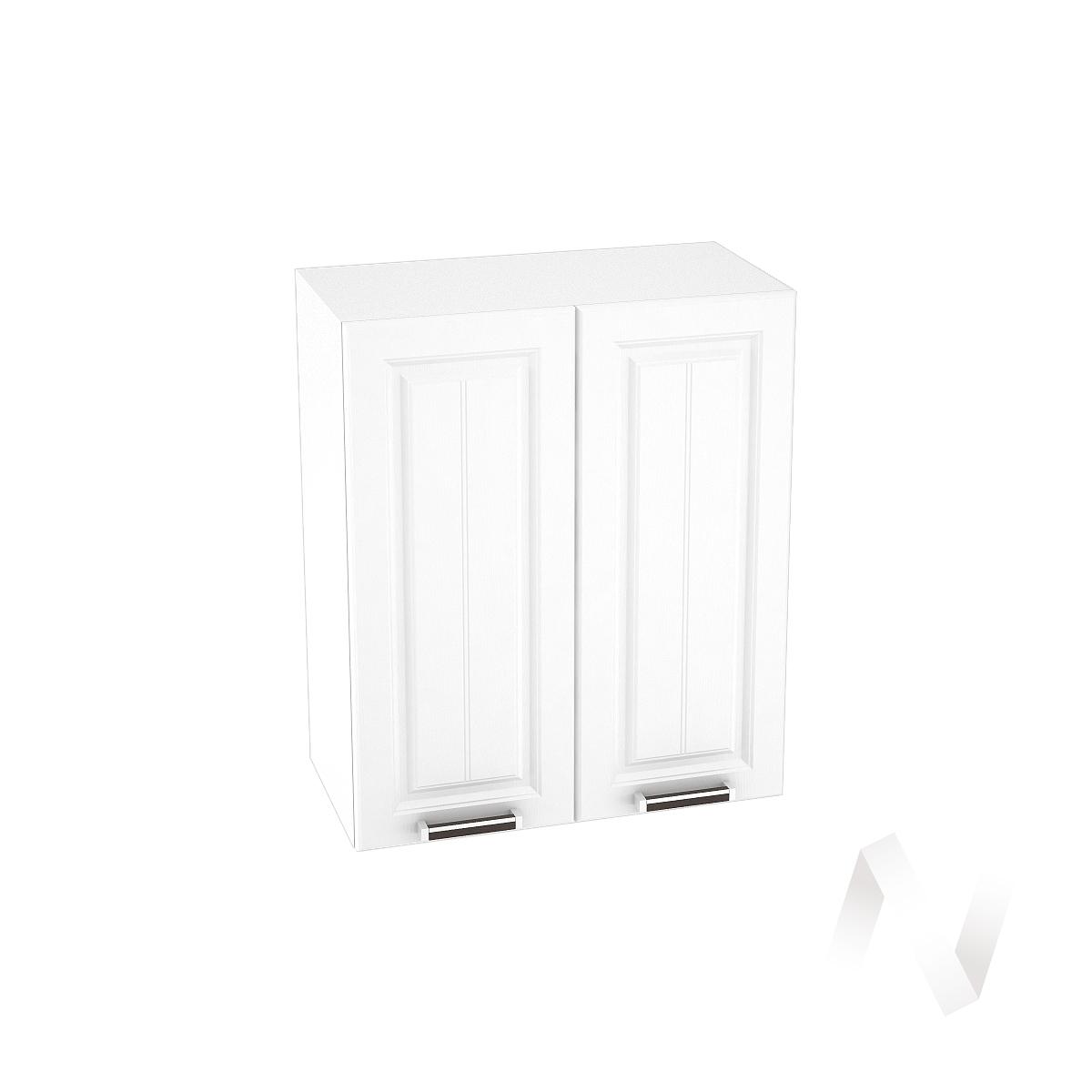 """Кухня """"Прага"""": Шкаф верхний 600, ШВ 600 (белое дерево/корпус белый)"""