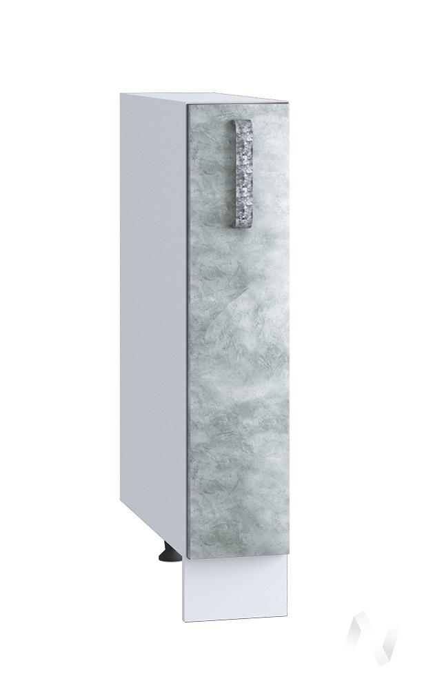 """Кухня """"Лофт"""": Шкаф нижний бутылочница 150, ШНБ 150 (Бетон серый/корпус белый)   в Томске — интернет магазин МИРА-мебель"""
