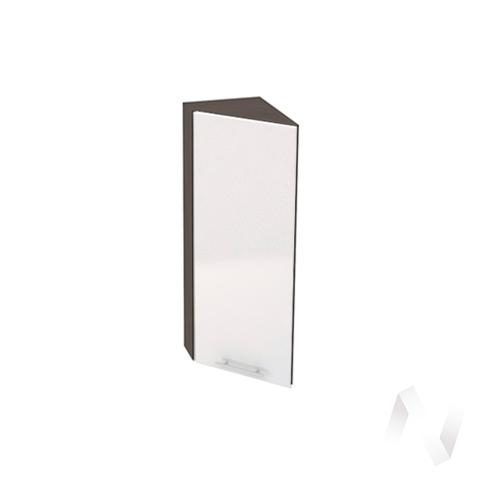 """Кухня """"Валерия-М"""": Шкаф верхний торцевой 224, ШВТ 224 (белый металлик/корпус венге)"""