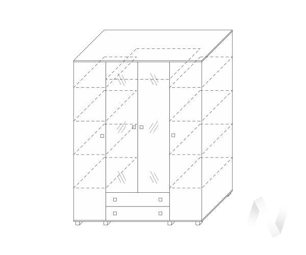 Шкаф Флоренция (ясень шимо темный/ясень шимо светлый)