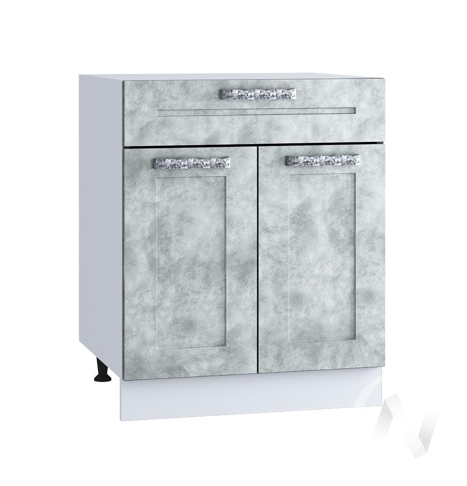 "Кухня ""Лофт"": Шкаф нижний с ящиком 600, ШН1Я 600 М (Бетон серый/корпус белый)"