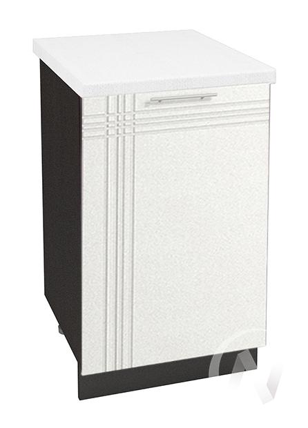 """Кухня """"Струна"""": Шкаф нижний 500, ШН 500 (белый металлик/корпус венге)"""