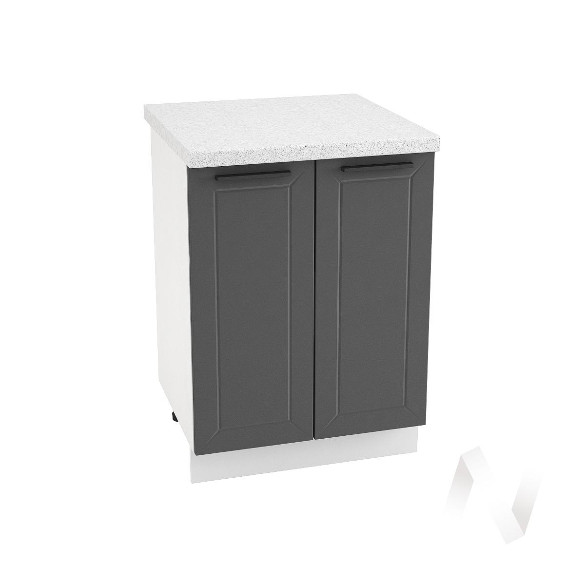 """Кухня """"Глетчер"""": Шкаф нижний 600, ШН 600 (Маренго силк/корпус белый)"""
