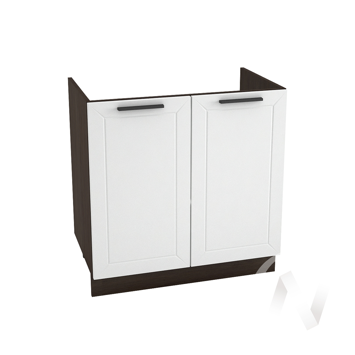 "Кухня ""Глетчер"": Шкаф нижний под мойку 800, ШНМ 800 (Айленд Силк/корпус венге)"