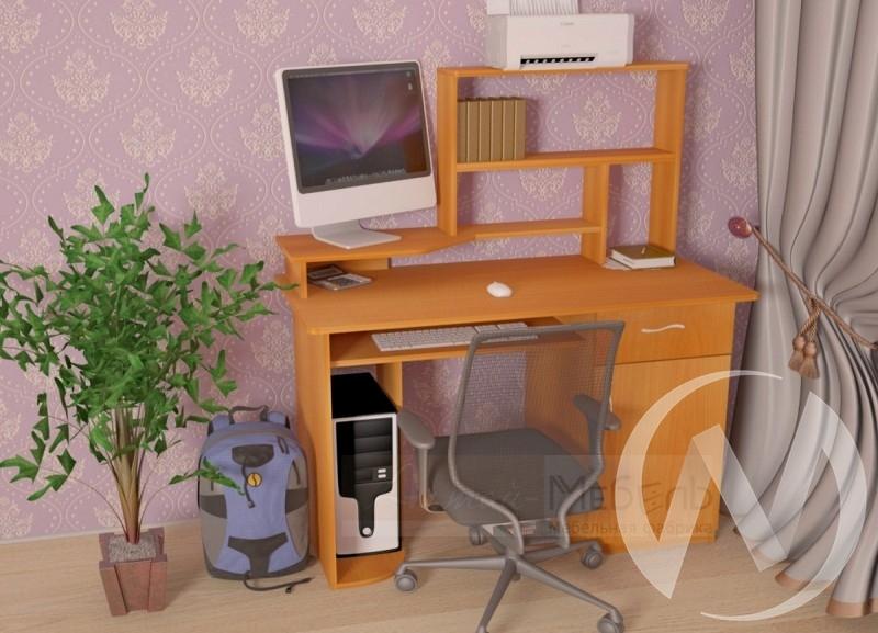 Компьютерный стол СК-3 (миланский орех)  в Новосибирске - интернет магазин Мебельный Проспект