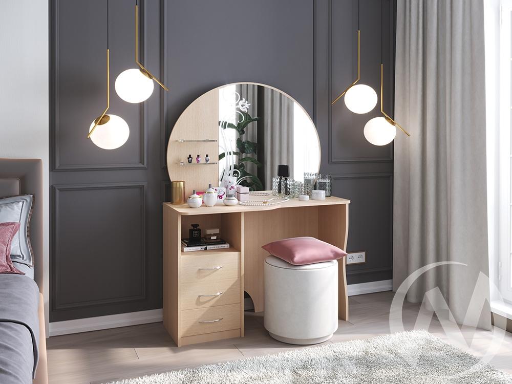 """Туалетный стол """"Лилия"""" (дуб выбеленный) недорого в Томске — интернет-магазин авторской мебели Экостиль"""