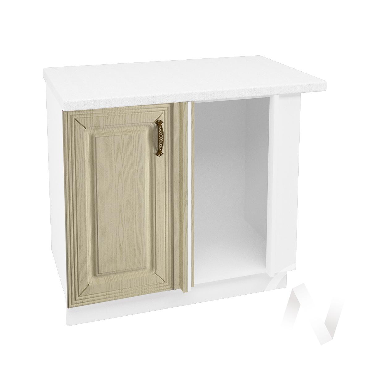 """Кухня """"Изабель"""": Шкаф нижний угловой 990, ШНУ 990 (корпус белый)"""