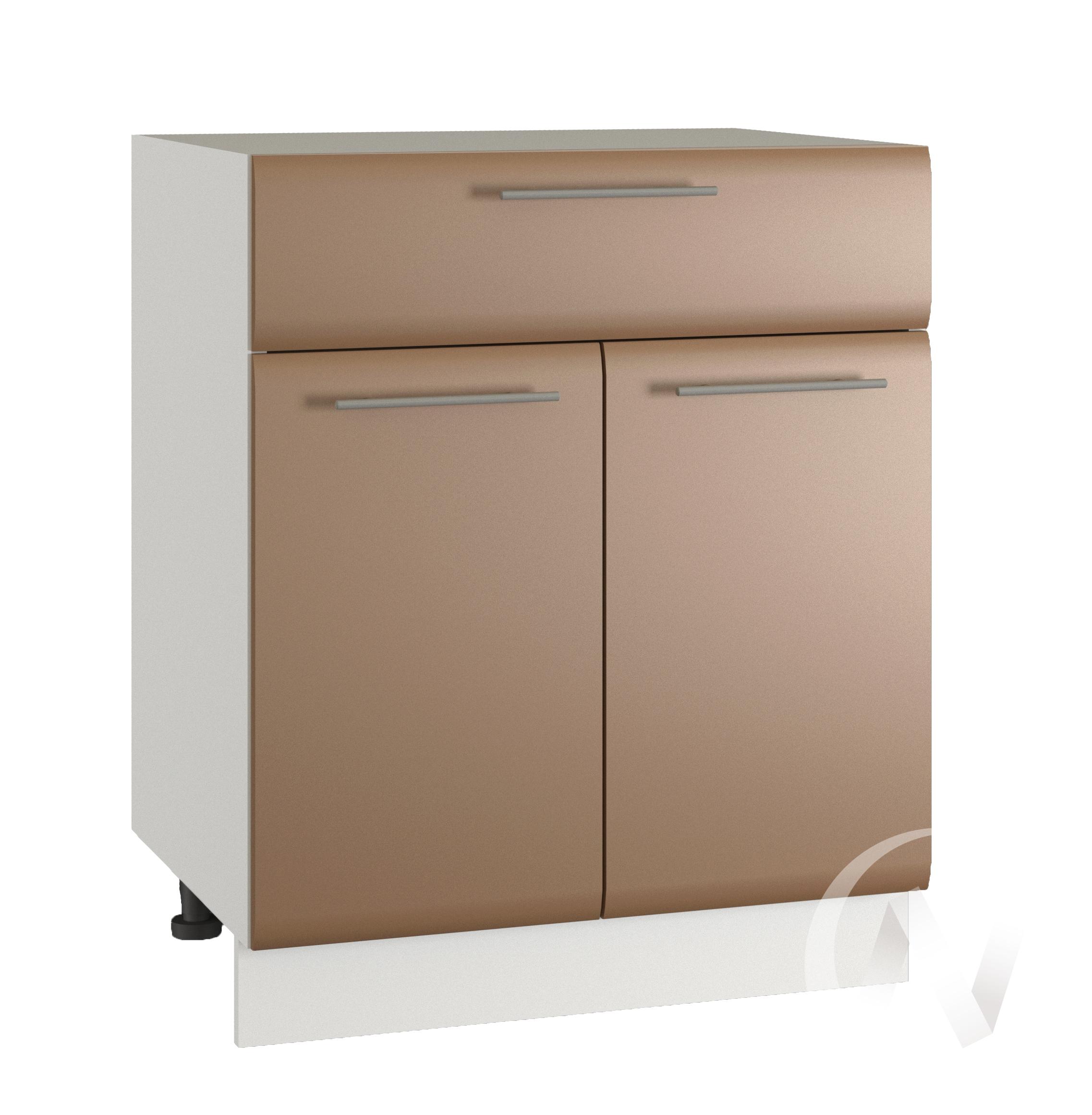 """Кухня """"Люкс"""": Шкаф нижний с ящиком 600, ШН1Я 600 М (Шоколад матовый/корпус белый)"""