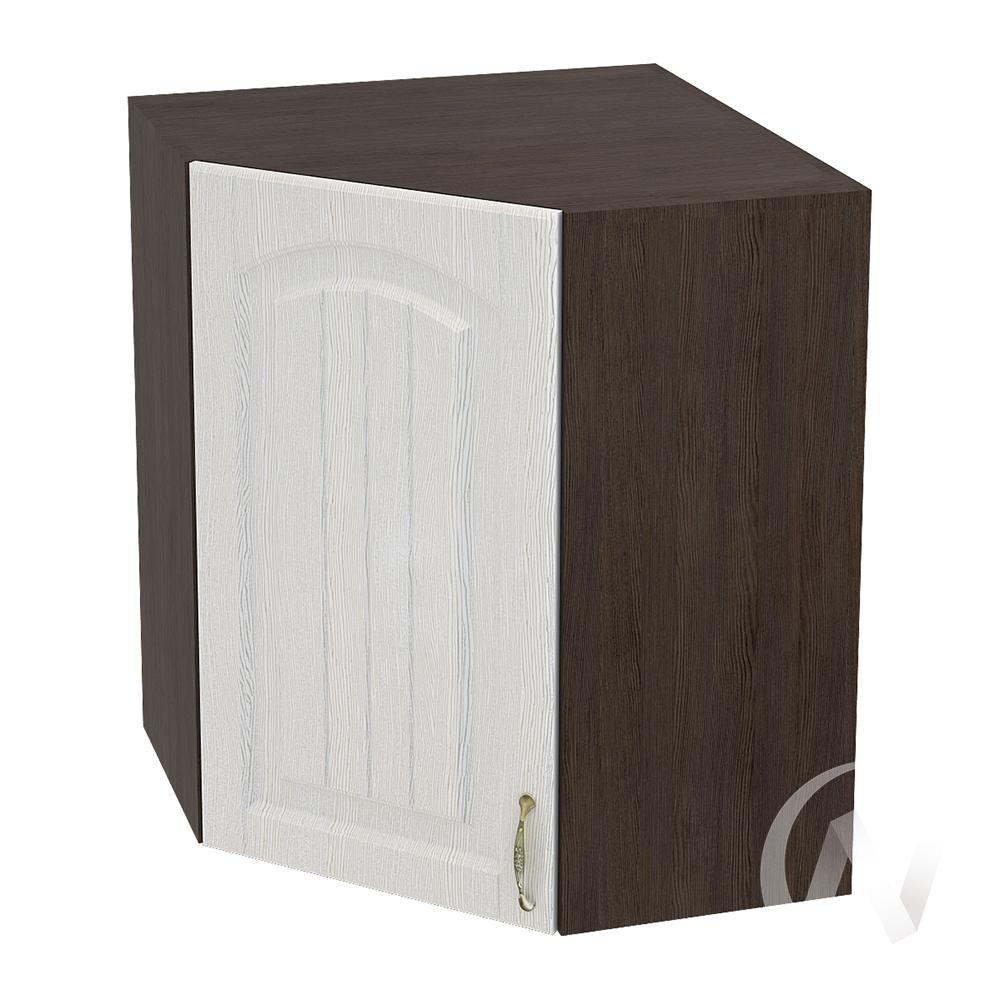 """Кухня """"Верона"""": Шкаф верхний угловой 590, ШВУ 590 (ясень золотистый/корпус венге)"""