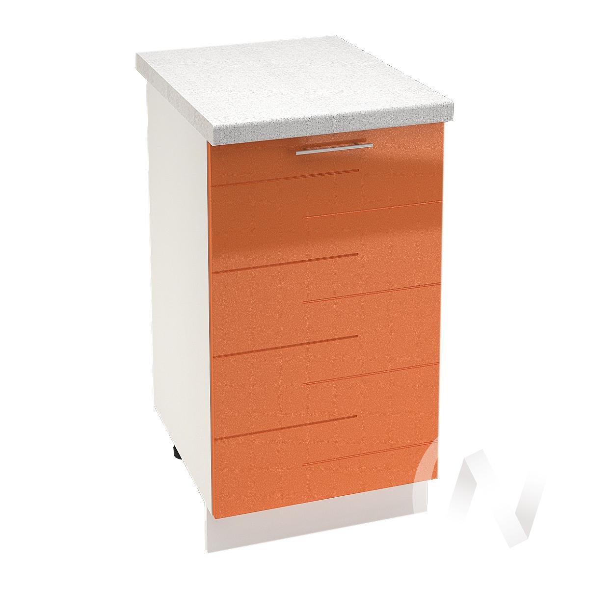 """Кухня """"Техно"""": Шкаф нижний 450, ШН 450 (корпус белый)"""