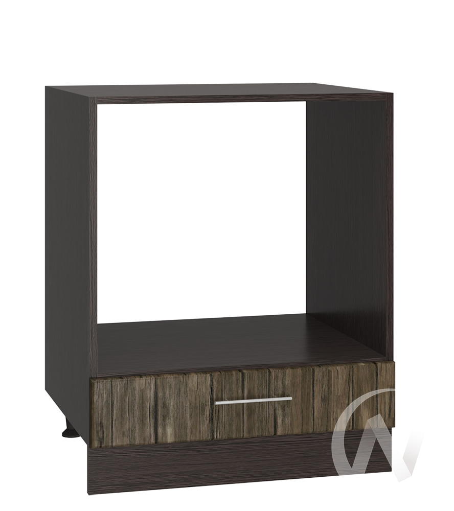 "Кухня ""Норден"": Шкаф нижний под духовку 600, ШНД 600 (старое дерево/корпус венге)"