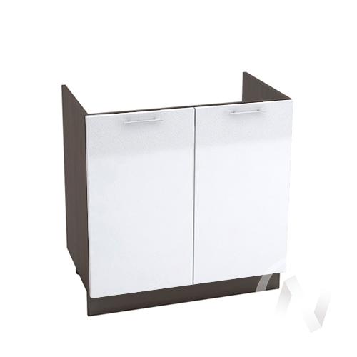 "Кухня ""Валерия-М"": Шкаф нижний под мойку 800, ШНМ 800 (белый металлик/корпус венге)"
