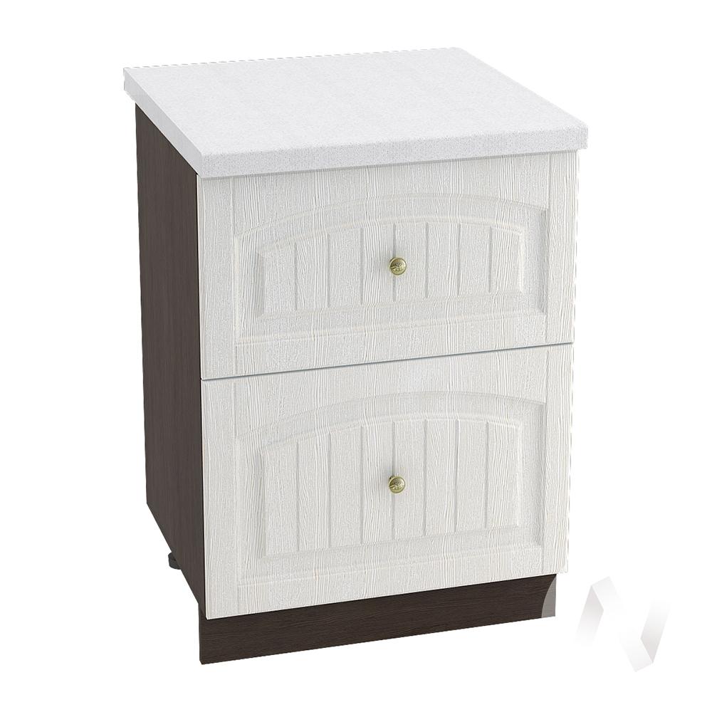 """Кухня """"Верона"""": Шкаф нижний с 2-мя ящиками 600, ШН2Я 600 (ясень золотистый/корпус венге)"""