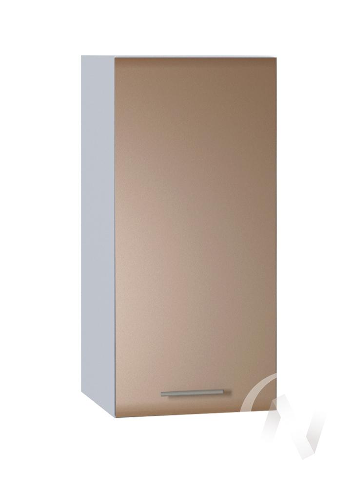 """Кухня """"Люкс"""": Шкаф верхний 300, ШВ 300 (Шоколад матовый/корпус белый)"""