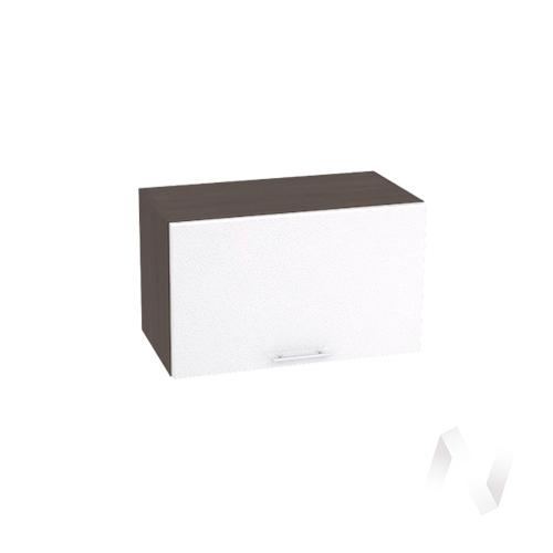 """Кухня """"Валерия-М"""": Шкаф верхний горизонтальный 600, ШВГ 600 (белый металлик/корпус венге)"""
