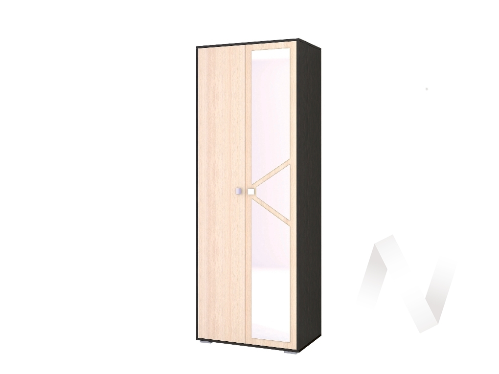 Шкаф 2-х створчатый бельевой Спальня Ненси-2 (венге/дуб молочный)