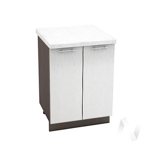 "Кухня ""Валерия-М"": Шкаф нижний 600, ШН 600 (дождь серый/корпус венге)"