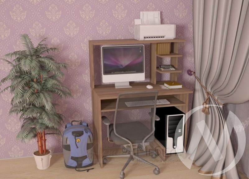 Компьютерный стол СК-7 (шимо темный)  в Новосибирске - интернет магазин Мебельный Проспект