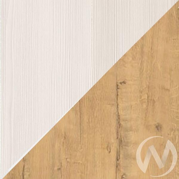 Светлана М16 Кровать 1,6 №2 (дуб бунратти/бодега)  в Томске — интернет магазин МИРА-мебель