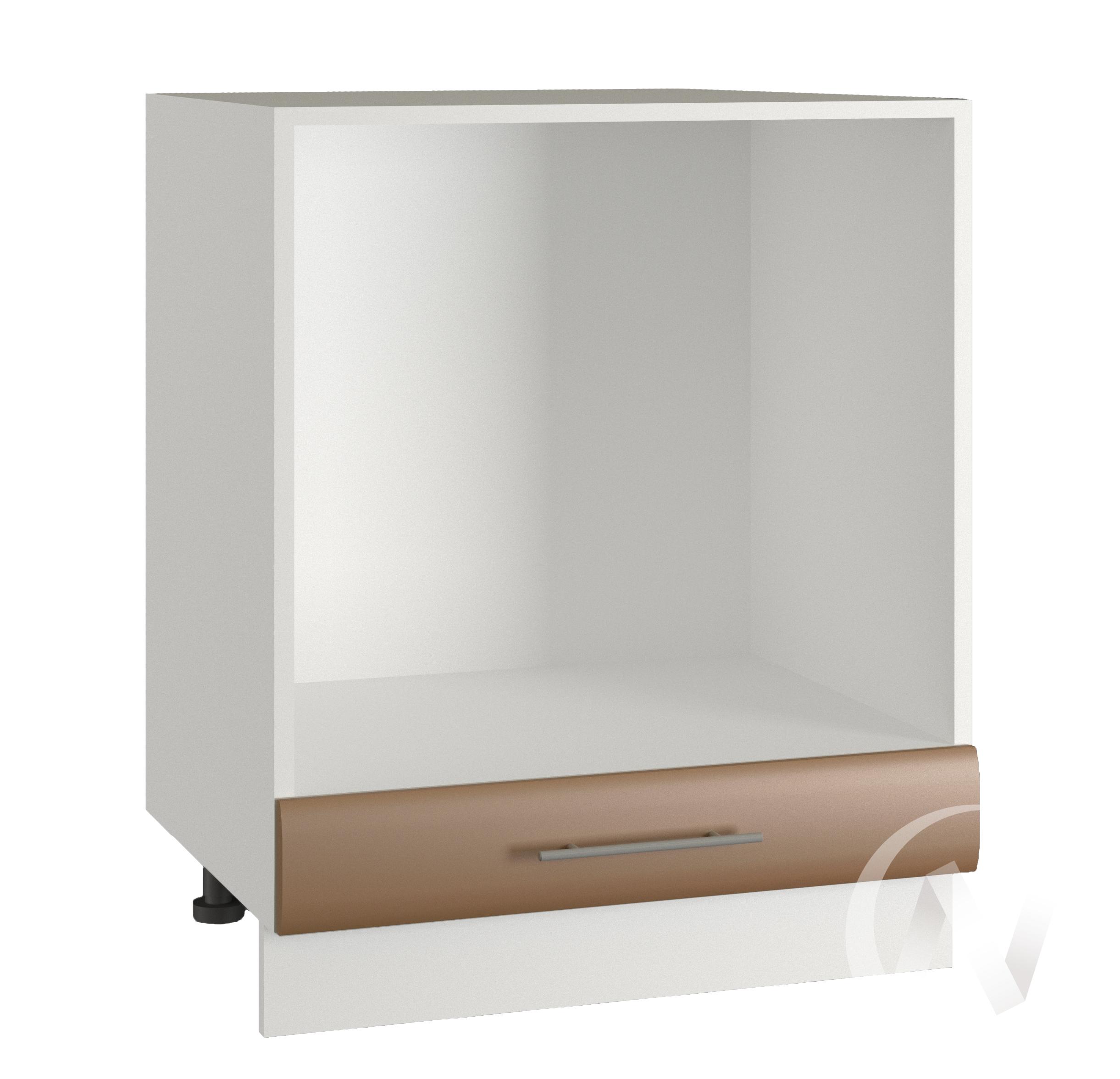"Кухня ""Люкс"": Шкаф нижний под духовку 600, ШНД 600 (Шоколад матовый/корпус белый)"