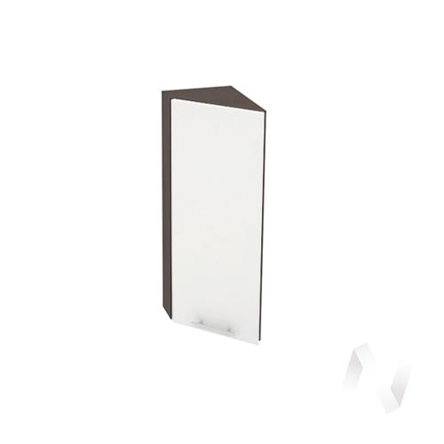 """Кухня """"Валерия-М"""": Шкаф верхний торцевой 224, ШВТ 224 (белый глянец/корпус венге)"""
