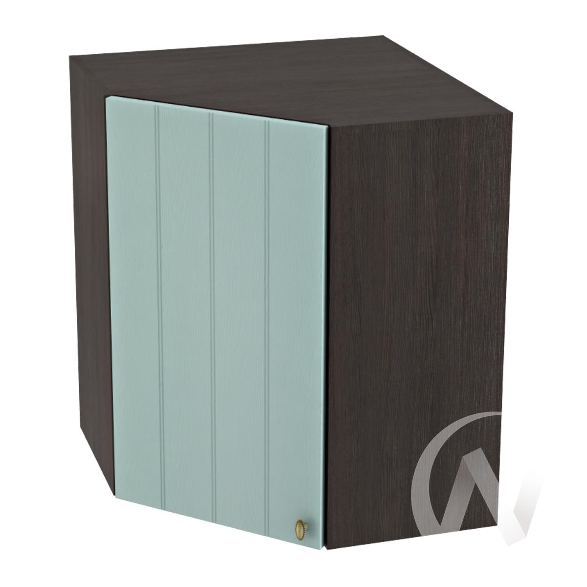 """Кухня """"Прованс"""": Шкаф верхний угловой 590, ШВУ 590 (голубой/корпус венге)"""