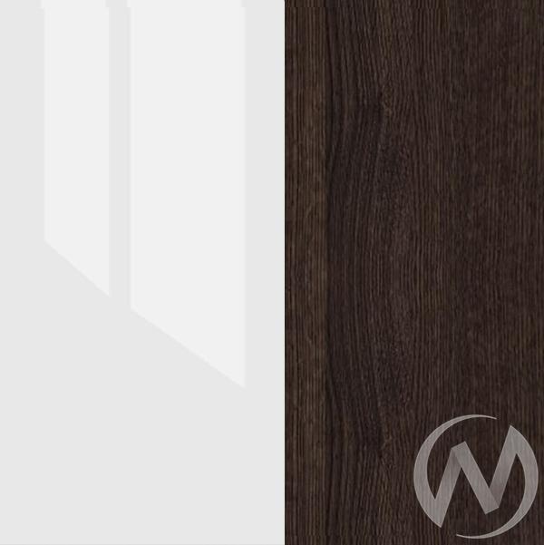 Атлантида Шкаф 2х створчатый с ящиками (венге-белый глянец)  в Томске — интернет магазин МИРА-мебель
