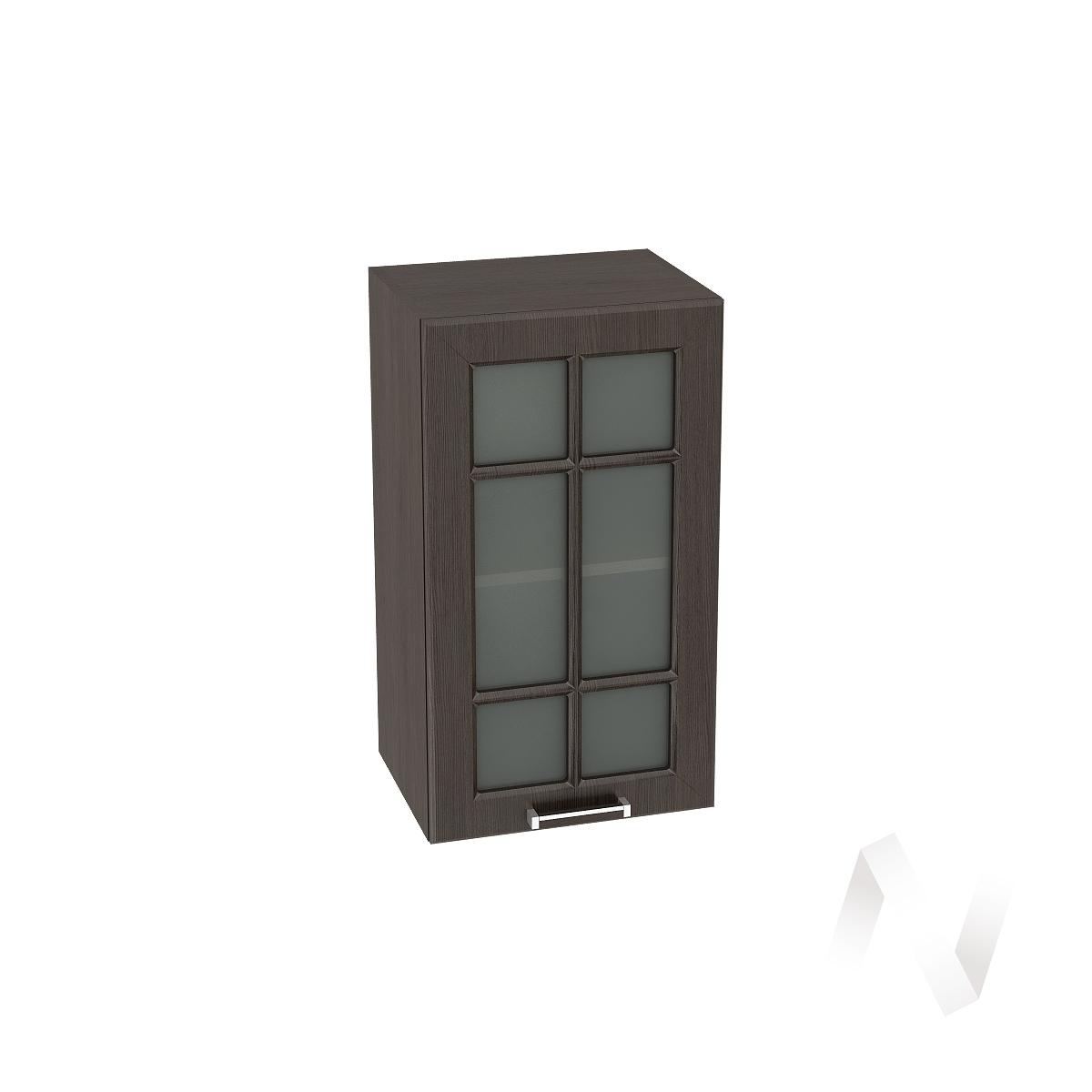 """Кухня """"Прага"""": Шкаф верхний со стеклом 400, ШВС 400 (венге/корпус венге)"""