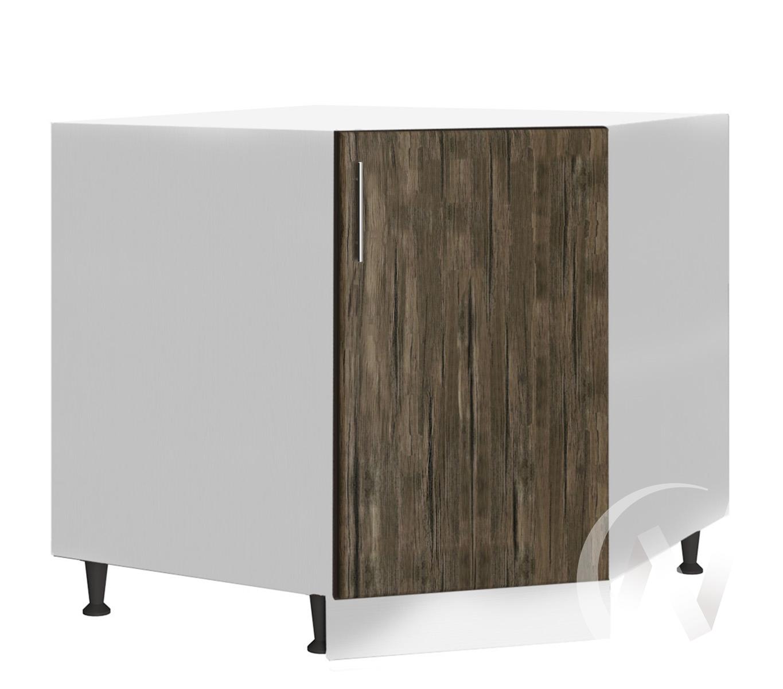 """Кухня """"Норден"""": Шкаф нижний угловой 890, ШНУ 890 (старое дерево/корпус белый)"""