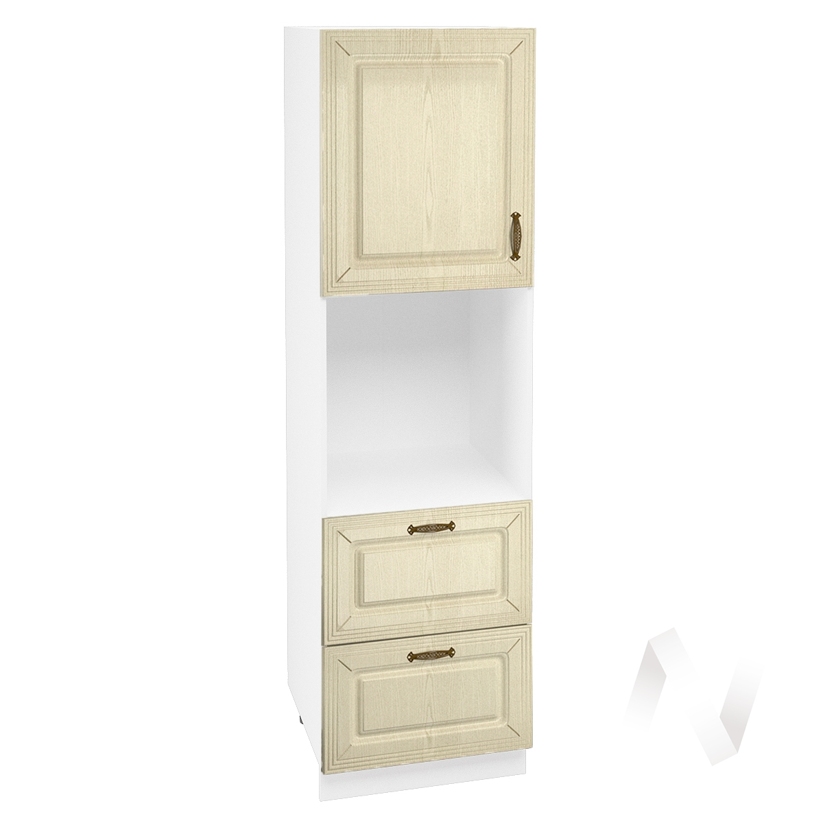 """Кухня """"Изабель"""": Шкаф пенал с 2-мя ящиками 600, ШП2Я 600 (корпус белый)"""