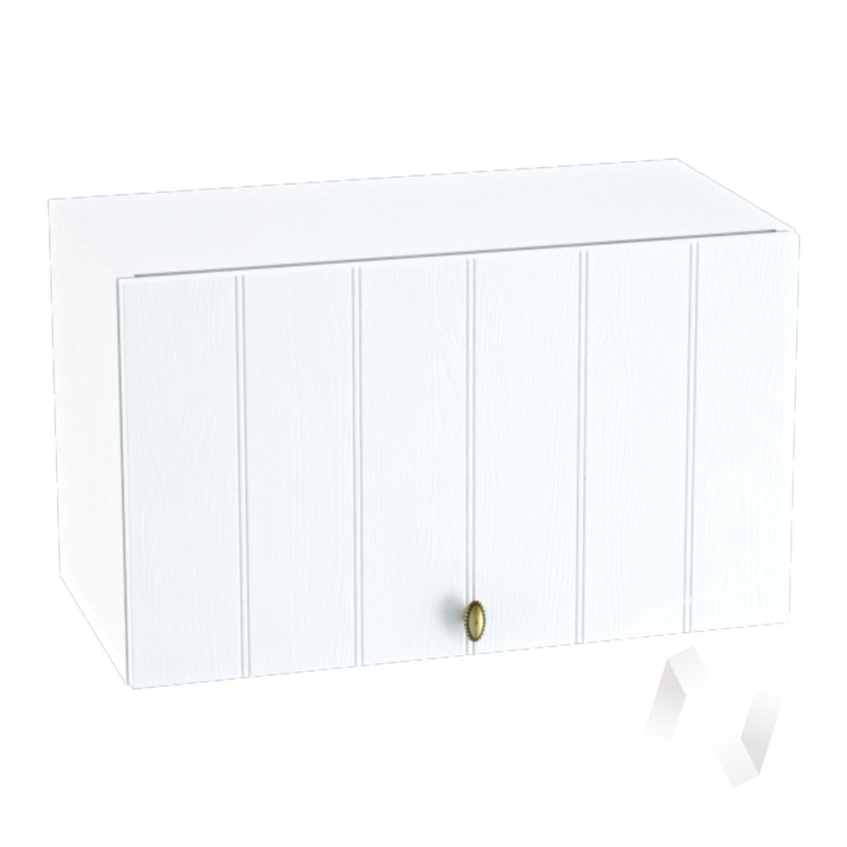 """Кухня """"Прованс"""": Шкаф верхний горизонтальный 600, ШВГ 600 (белое дерево/корпус белый)"""