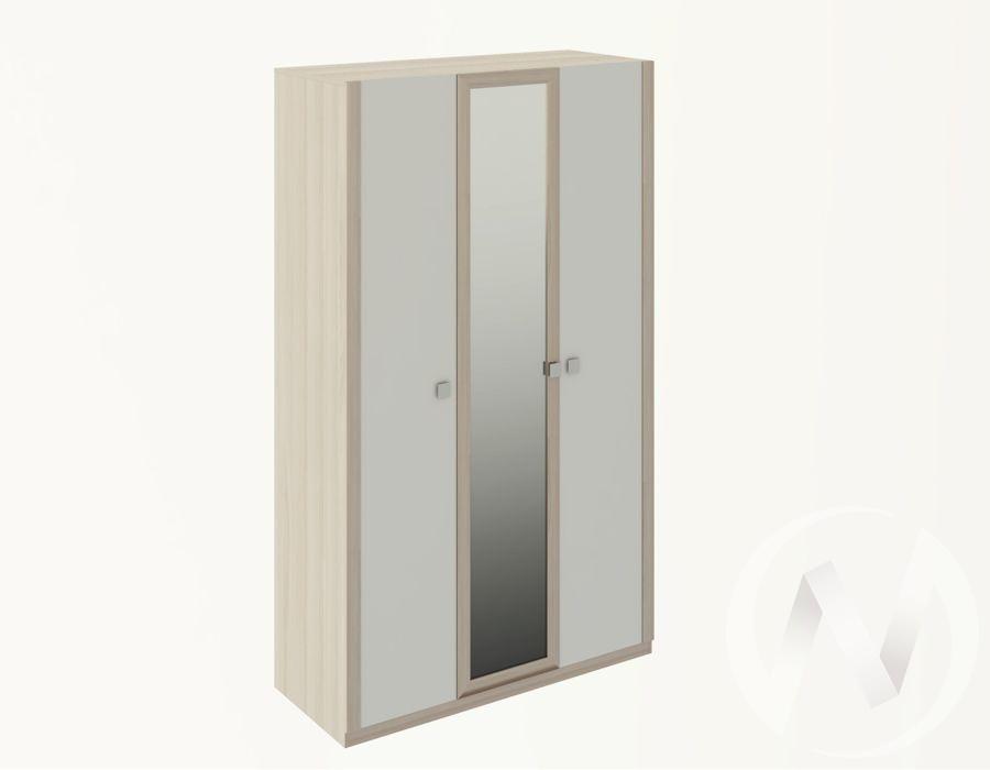 Шкаф трехстворчатый М23 Глэдис (ясень шимо светлый/белый)