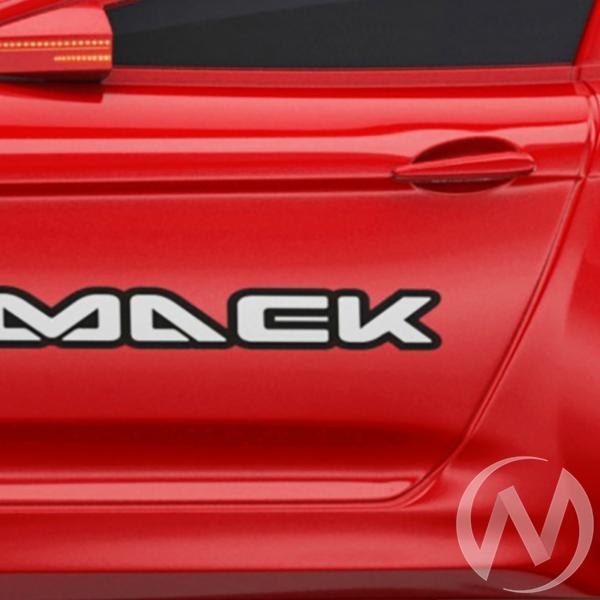Кровать машинка Real-M с ящиком и фирменными полосками (красный мерседес)  в Томске — интернет магазин МИРА-мебель